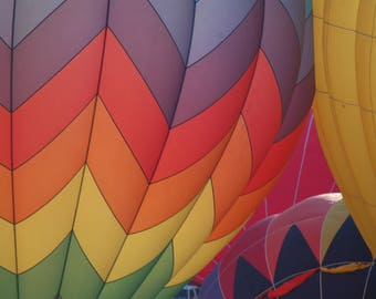 Inflated Hot Air Balloons