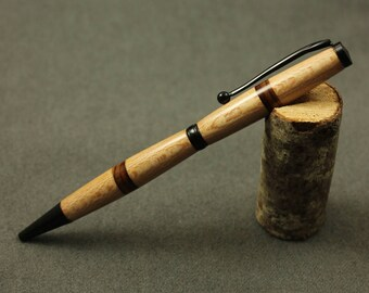 Sycamore and Cocobolo wood Slimline Pen