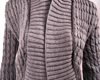 Wool vest, vest women gray vest, knitted Cardigan vest is handmade, sexy vest, vest, cardigan wool knitted cardigan 0082