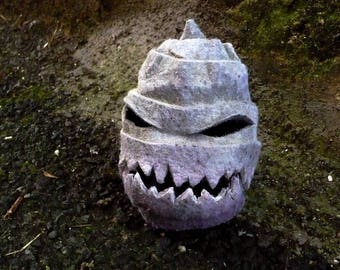 """Monster"" Halloween, decorative felt turnip"