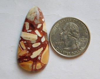 Fantastic Brecciated Mookaite Jasper gemstone Cabochon looking Excellent Quality Natural handmade Gemstone Top quality 28.85cts (38x19x5)mm