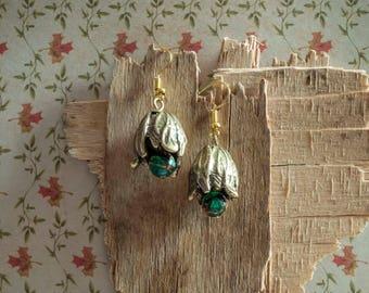 Tulip Earrings, Tulip Chunky Earrings, Flower Dangle Earrings, 11th Anniversary Gift for Her, Charity Donation