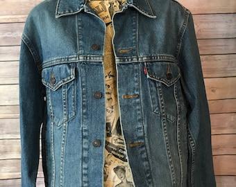 Levi Strauss & Co. Classic Blue Denim Jean Jacket 70507 (S)