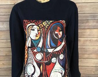 Picasso Art Long Sleeve Shirt (L)