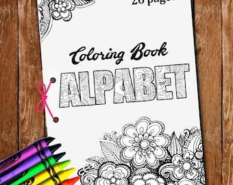 26 Pgs Alphabet Coloringletters ColoringAlphabet Lettersprintable LettersColoring Book