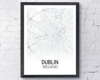 Dublin Ireland Map Print