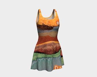 Water Ladies Flare Dress
