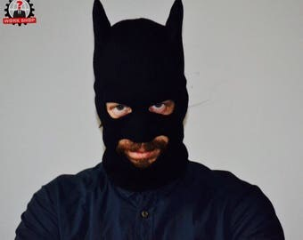 Batman cowl knitted hat