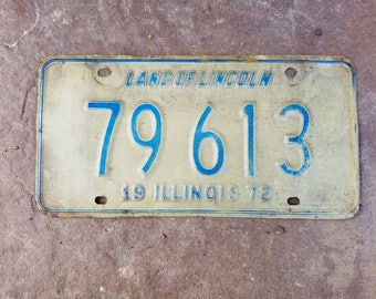 Old Illinois Licence Plate - 1972