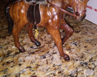 Leather toy horse