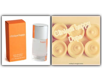 Clinique | happy | wax melts| wax tarts | soy wax melts | perfume scented candles | perfume scented