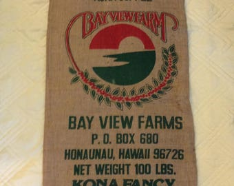 Burlap Coffee Bag from Kona, Hawaii