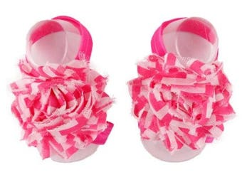 Pink - Baby Shoes , Baby Barefoot Sandals,  Baby Sandal,  Baby Sandals, Barefoot, Newborn, Toddler