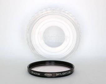 Vivitar 49mm Skylight (1A) Lens Filter in Original Case - 49mm Skylight 1A Filter for Photography