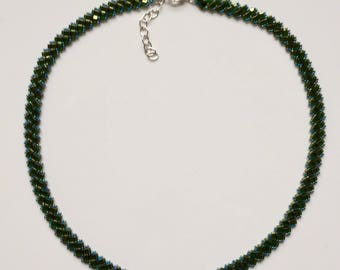 """Soft pearl Necklace """"green-blue"""""""