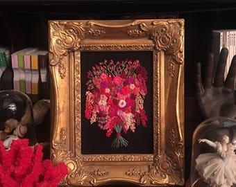 Embroidered Floral in frame