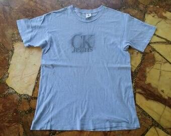 Vintage 90's Calvin Klein Jeans SpellOut CK Jeans t shirt
