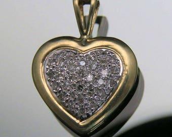 Dazzling 10k Gold & Diamond Heart Pendant