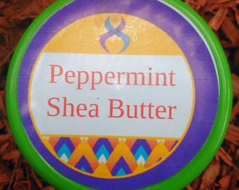 8 oz Peppermint Shea Butter