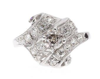 1920's 14K Diamond Fashion Ring