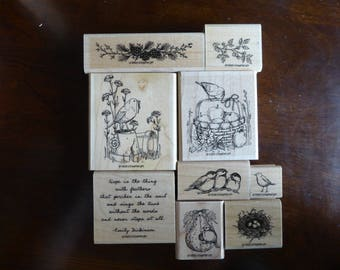 Stampin Up Feathered Hope Stamp Set 1998 (retired)