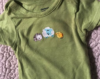 Green with Animals Puppy Shirt (size 1p)