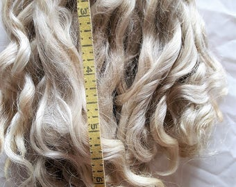 Natural Off White Mohair Locks 6 to 7 inches
