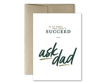 Card for Dad, Dad Birthday Card, Funny Dad Birthday Card, Father's Day Card, Birthday Card, Dad Card