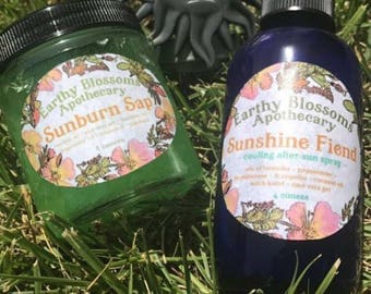 All-natural SUNBURN RELIEF SPRAY - After Sun Care - Sunshine Fiend