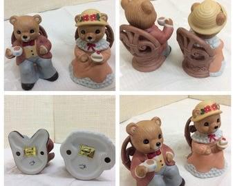 2 lovely ceramic Homco bears