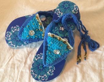 Flip Flop Sandals fir Women and Girls - Crochet suze 7/8