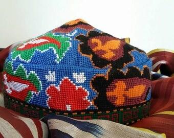 A Traditional Uzbek Duppi cap, skullcap. Must Have One!