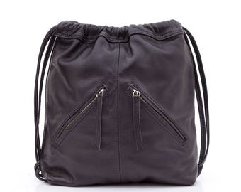 Backpack Nudo Black Leather