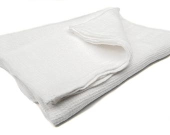 Linen Bathroom Towels / Sheets - Bright White Towel - Pure Linen Towel - Hand and Body Towels