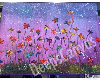 Delicately stitched on Canvas