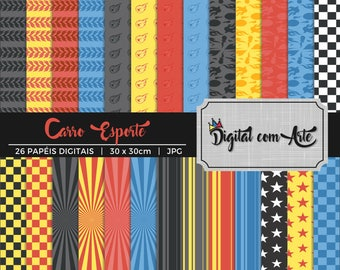 50% OFF - Big Foot Car Digital Paper