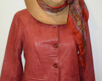 Women's leather jacket - Women's leather jacket - Original leather jacket for women - A uniquely designed leather jacket