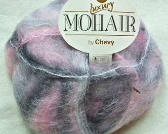 Chevy Luxury Mohair wool (7 x 50G) Pink and Grey