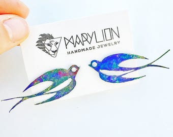 Swallow earrings - Swallow Earrings - Bird jewellery - Gifts for women - Earrings bird - Gift for her - Trending jewelry - Fashion earrings