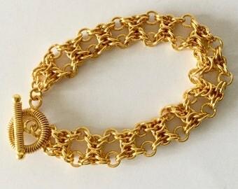 Golden Byzantine weave Bracelet