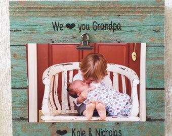 I love you grandpa frame, i love my grandpa frame, grandpa frame, Father's Day frame, personalized frame, personalized gift, Father's Day