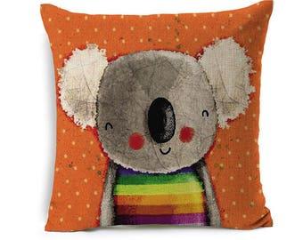 Kids Cartoon Animal Cushion Cover Koala Throw Pillow Case