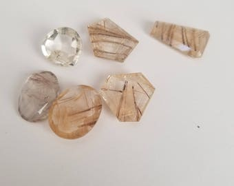 88CT LOT QUARTZ RUTILE