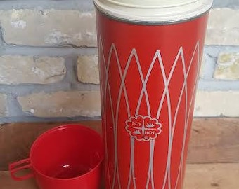 Icy/Hot Red Thermos holds 1 QT
