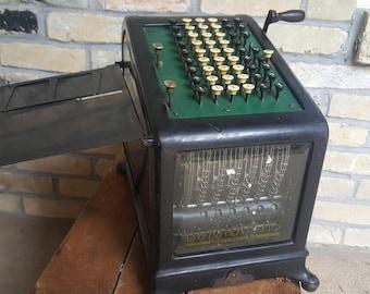 Burroughs Adding Machine Class 1 Model 6X Made in 1910