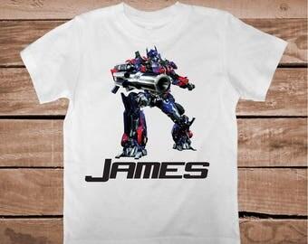 Transformers Birthday Tee Tees T-shirt Optimus Prime T-Shirt Unique Transformers Tees Optimus Prime Shirt Custom T-shirts for Kids, bb27