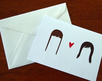 Same sex wedding/engagement card - Mrs. & Mrs.