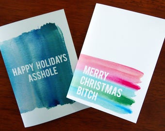 Rude Christmas Card duo - ink it up collection