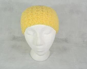 knit headband - knit ear warmer - crochet ear warmer - lemon ear warmer - women headband - women ear warmer - winter headband - winter hat