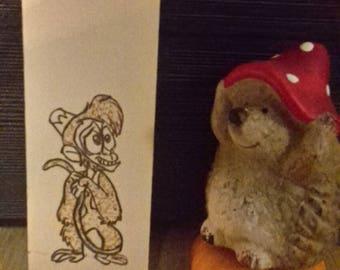 Aladdin, Abu woodburning/pyrography bookmark, handmade Disney gift